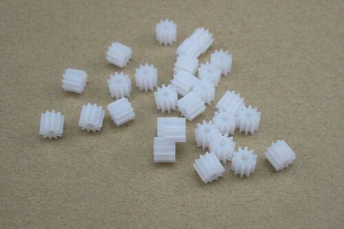 10pcs 10T M0.5 Plastic Gear 1.95mm Aperture Wheel For Gear Motor//DIY Toy