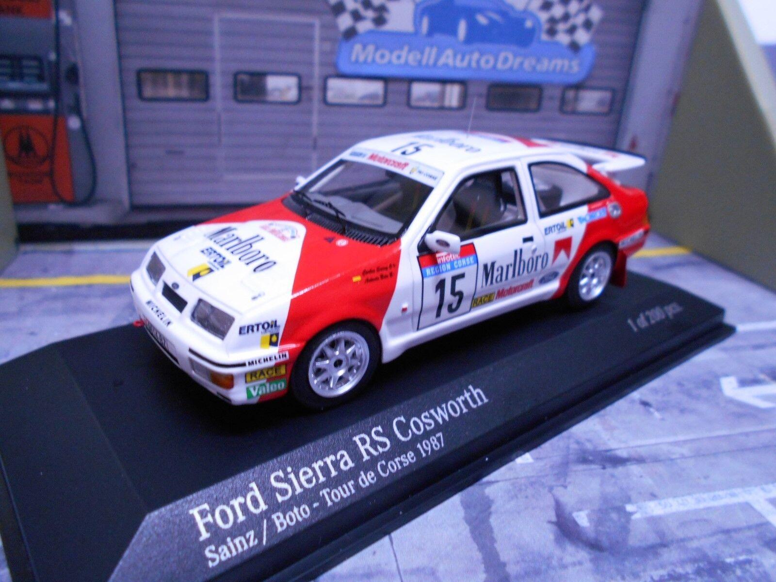 FORD Sierra Cosworth RS RALLY 1987 sainz tour de corse marlbo Minichamps 1 43