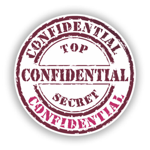 2 x Confidential Vinyl Stickers Travel Luggage #10709