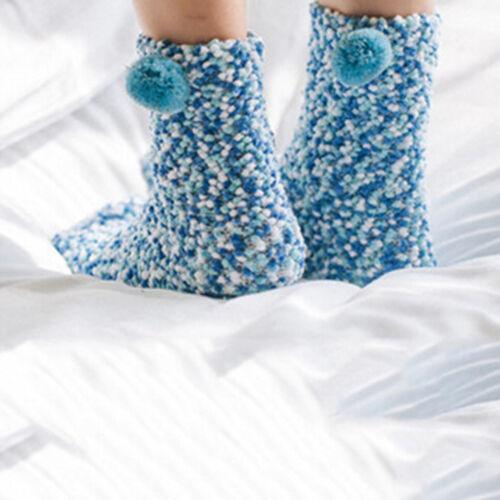 1 pair Women Girls Bed Socks Fluffy Warm Winter Soft Floor Socks FO