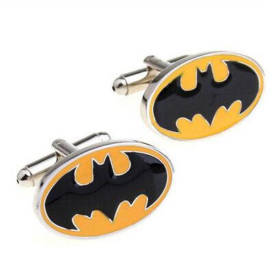 Cool Yellow Batman Cufflinks Fashion Men's Wedding Party Gifts