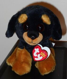 21b6aa08eee Ty Beanie Baby ~ TREVOUR the Rottweiler Dog (6 Inch) NEW MWMT ...
