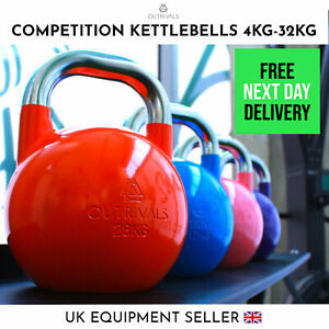 Kettlebells Competition Style 4kg-32kg Heavy Duty Steel Crossfit Gym Fitness