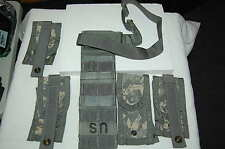 MOLLE II ACU Pistolman Set Leg Extender & 4 9mm Magazine Mag Pouches