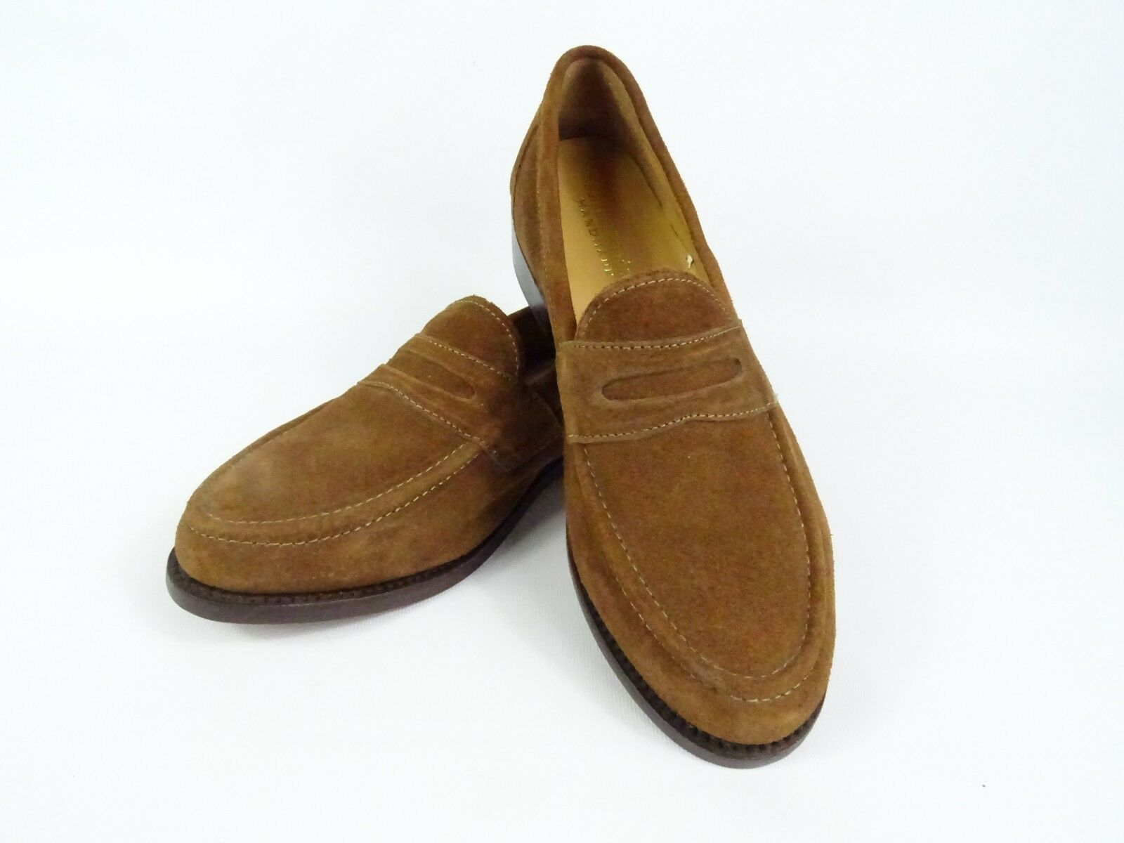 Samuel Windsor Mens Loafers Leather shoes Suede Smart Slip On UK 8.5 new