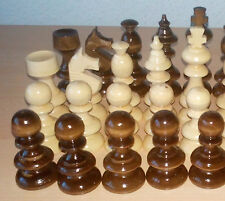 New handspindled handmade handcrafted hazel wood chess piece set,King is 3.62 in