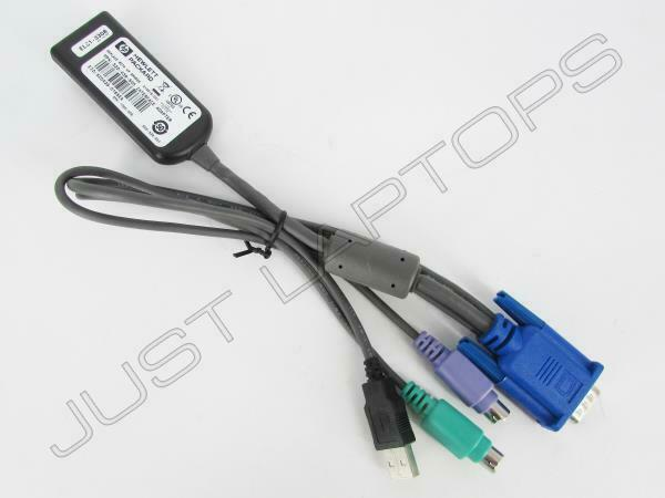 Genuine HP KVM Ethernet VGA USB PS2 Interface Adapter 520-439-505 414619-001