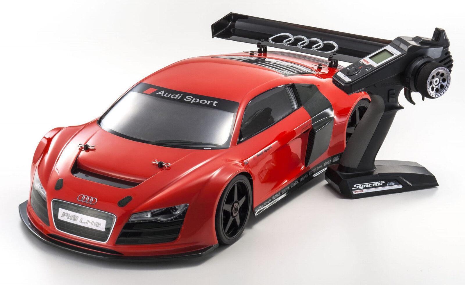 KYOSHO Inferno  34102b gt2 ve RACE Specs AUDI r8 LMS   rosso  consegna gratuita e veloce disponibile