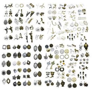 Viele tibetische Silber Mode europäischen Charms Schmuck Handwerk Anhänger DIY