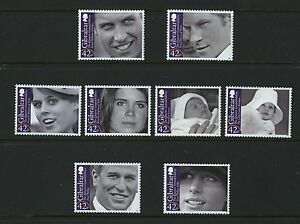 Grandchildren-of-Queen-Elizabeth-II-set-of-8-mnh-stamps-Gibraltar-2009