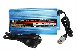 Mighty-Max-24-Volt-5-Amp-Three-Stage-XLR-Scooter-Charger-for-Heartway-Aviator-S8