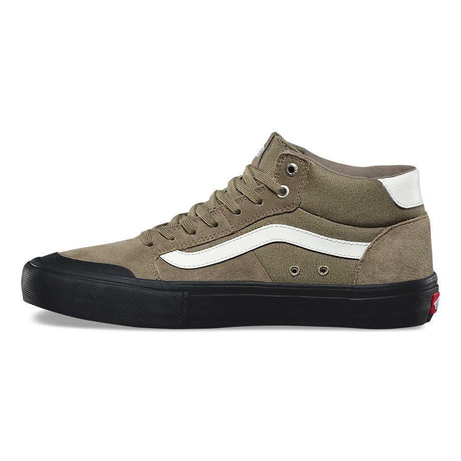 Vans Style 112 Mid Pro Dusky verde Negro Antiguo Zapatos para hombre 8