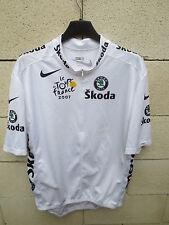 Maillot BLANC TOUR de FRANCE 2007 NIKE Skoda shirt trikot CONTADOR camiseta XL