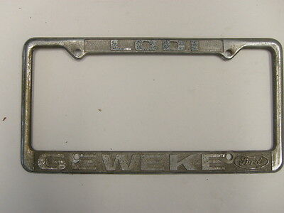 Lodi Geweki Ford Dealership License Plate Frame Metal Tag