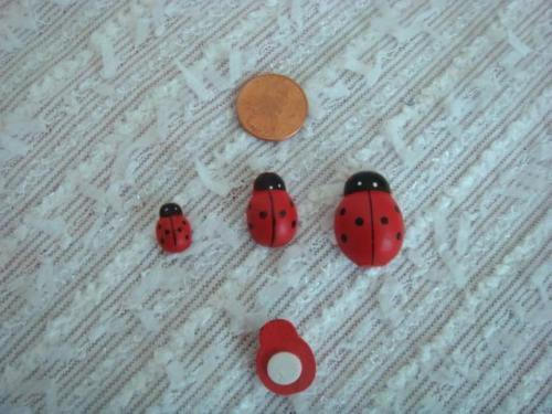 Lot of stick on red ladybug pick your size small medium large US SHIPPER