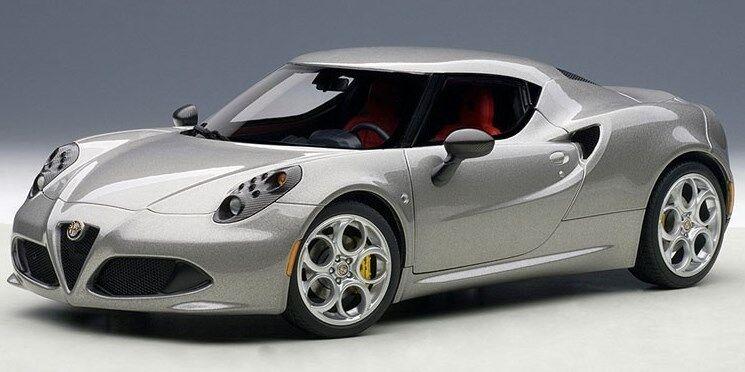70187 Autoart 1 18 Alfa Romeo 4C gris Metalizado