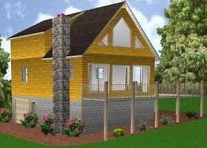 24x34 cabin w full basement plans package blueprints for 28x28 cabin plans