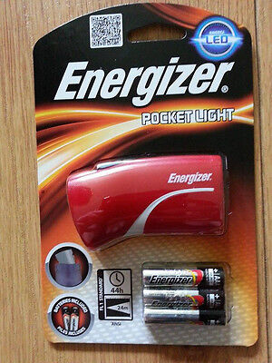 BRAND NEW ENERGIZER POCKET LIGHT TORCH LED WITH 3 AAA BATTERIES 632631 BLUE