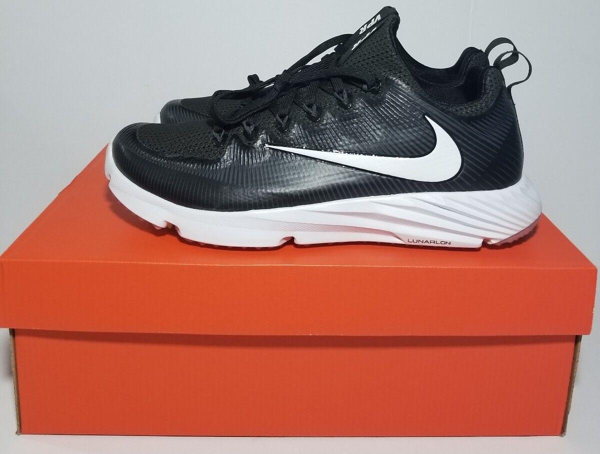 Nuove nike vapore velocit territorio football 833408-017 lacrosse scarpe bianco nero 833408-017 football sz - 8 ed045f