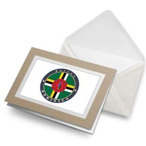 Greetings-Card-Biege-Roseau-Dominica-Flag-Map-5043