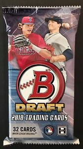 2018-BOWMAN-DRAFT-CHROME-JUMBO-BASEBALL-HOBBY-PACK-LOT-OF-4-BRAND-NEW-SEALED