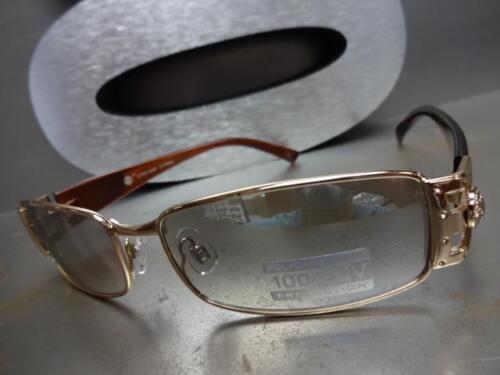 Men/'s CLASSIC VINTAGE RETRO Style SUN GLASSES Gold Frame Clear Lens Mirror Tint
