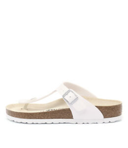 d6241e691999 Image is loading New-Birkenstock-Gizeh-White-Womens-Shoes-Casual-Sandals-