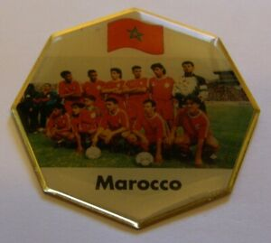 WORLD-CUP-94-USA-SOCCER-MOROCCO-TEAM-PICTURE-FOOTBALL-FIFA-vintage-pin-badge-Z8J