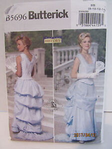 LADIES HISTORICAL COSTUME SEWING PATTERN FOR DRESS SZ. 8-14 BUTTERICK 5696