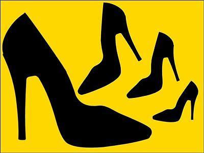 Negro De Salón Zapatos de Taco Alto Moda Diseñador Zapatos Pastel/Cupcake Topper En Papel De Arroz