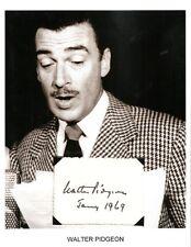 Walter Pidgeon Autograph Mrs Miniver Funny Girl Forbidden Plan Going Wild #2