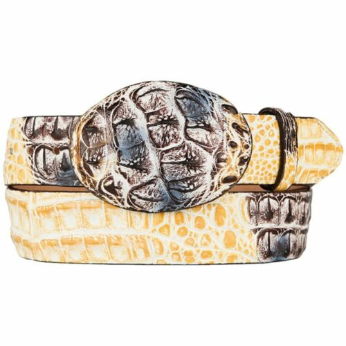 Men/'s King Exotic Handmade Genuine Caiman Belt Removable Buckle Western Style