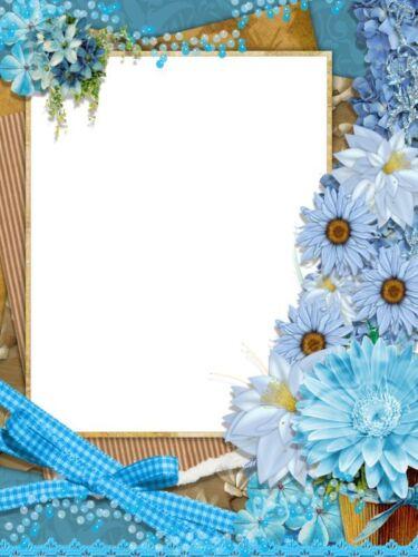 Blue Daisies Pearls /& Ribbon Stationery Printer Paper 26 Sheets