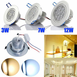6-12X-Warm-Cool-White-110V-3-7-12W-Recessed-LED-Ceiling-Downlight-Spotlight-blub