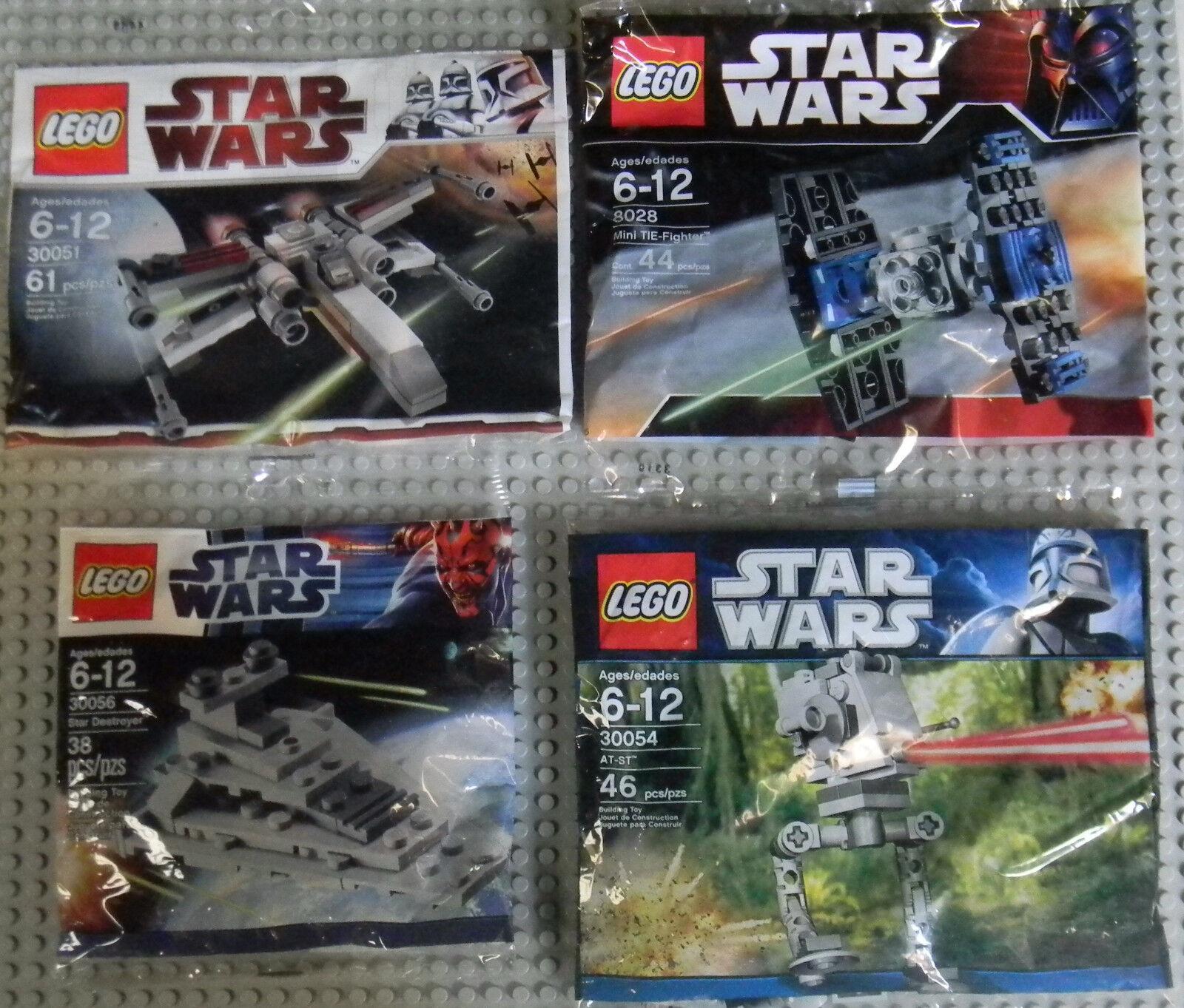 Lego Star Wars Minis 30051 30056 8028 30054 X-Wing Tie Tie