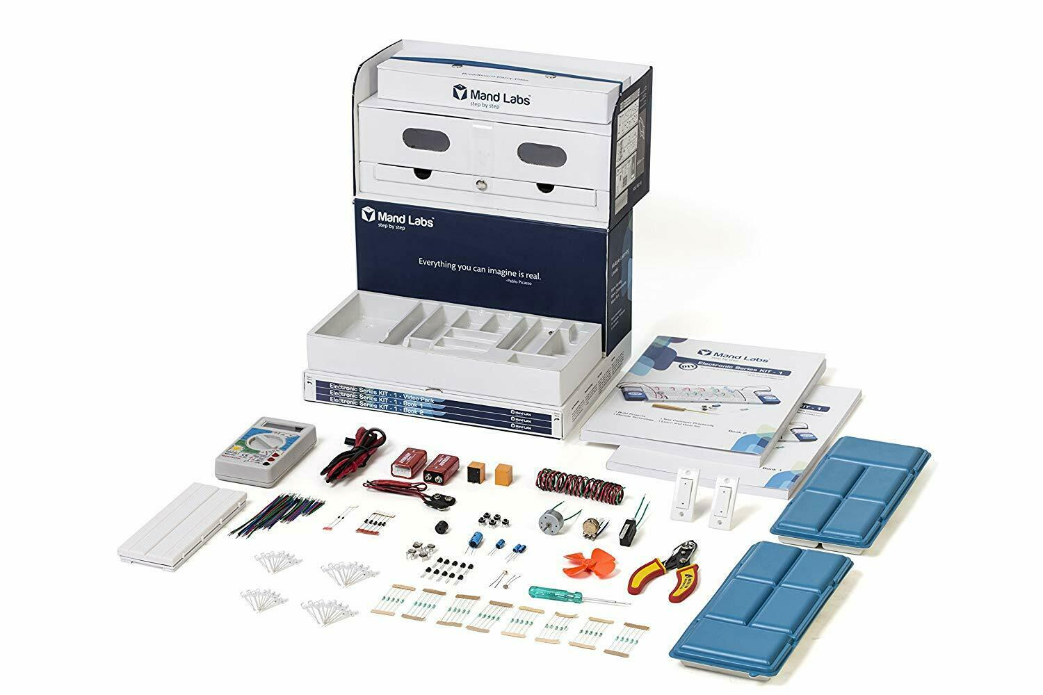 Mand Labs KIT -1 ståardutgåva  The All -in -one STEM Electronics Kit
