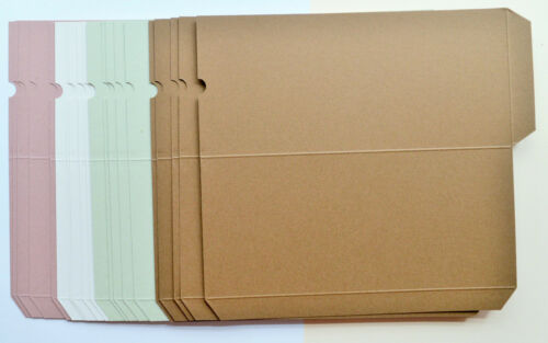 20 Good Quality Craft Card Wallets in 4 Colours Finished Size 200mm x 90mm NEW