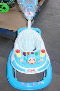 Baby-Walker-First-Steps-Activity-Bouncer-Musical-Toys-Push-Along-BLUE