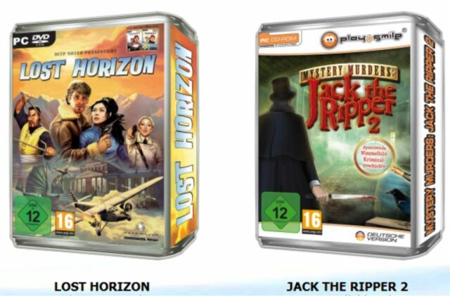 LOST HORIZON & JACK THE RIPPER 2 - zwei Top PC Spiele - Vollversionen - NEU