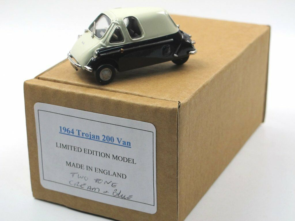 Sams modellautos 1964 trojaner 200 van blau   creme weiße metall wei ß metall 1   43