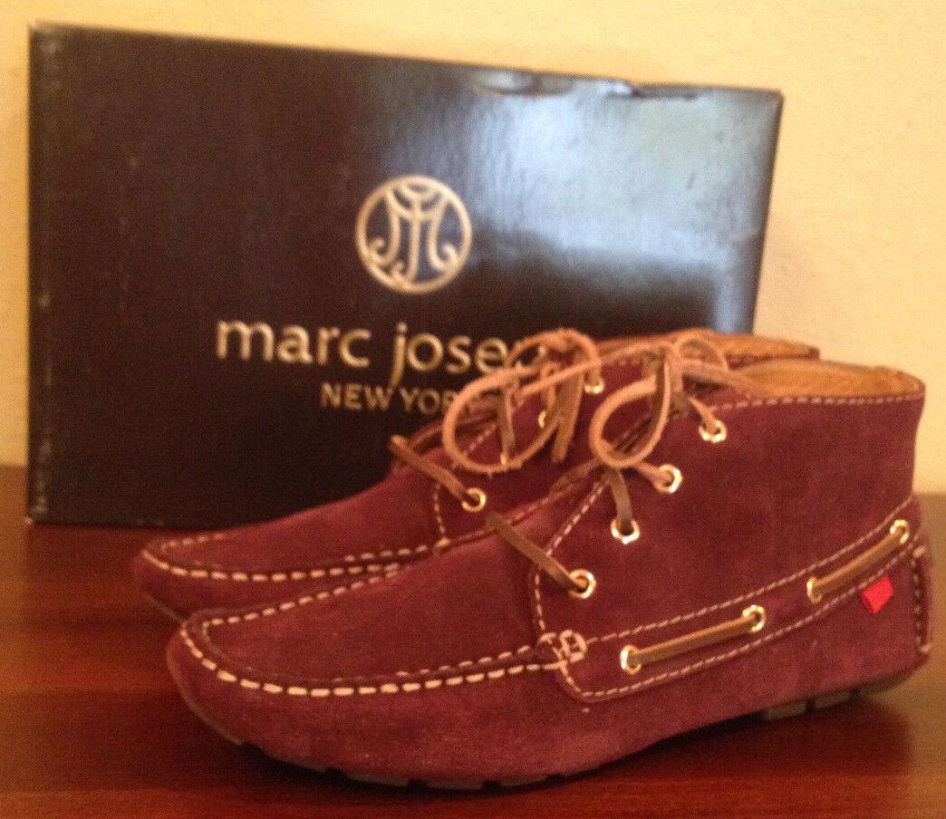 NIB Marc Joseph BROADWAY Wine SUEDE Stiefelie Driver Moccasin Ankle Stiefel 6.5 M