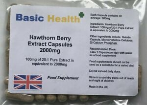 Hawthorn-Berry-x-120-2000mg-Heart-Blood-Bressure-Circulation-Angina-Cholestrol