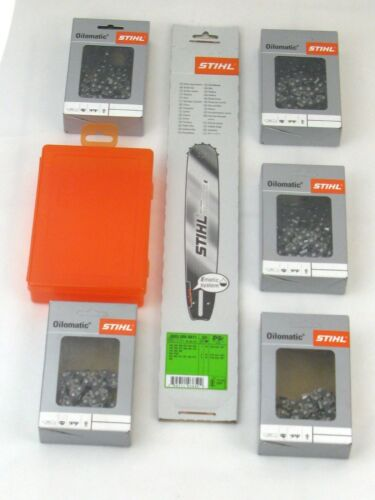 "5 Stihl Vollmeißelketten Box Stihl Rollomatic E 37cm 0,325/"" 1,6 3003 000 6811"