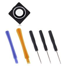 Rear Camera Lens Cover Frame Glass Ring Replacement Back for iPhone 4 w/ Tools