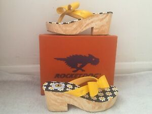 Brand-New-In-Box-Rocketdog-Tommie-Liquid-Patent-Lemon-Bar-Sandals-Size-6-RRP-30