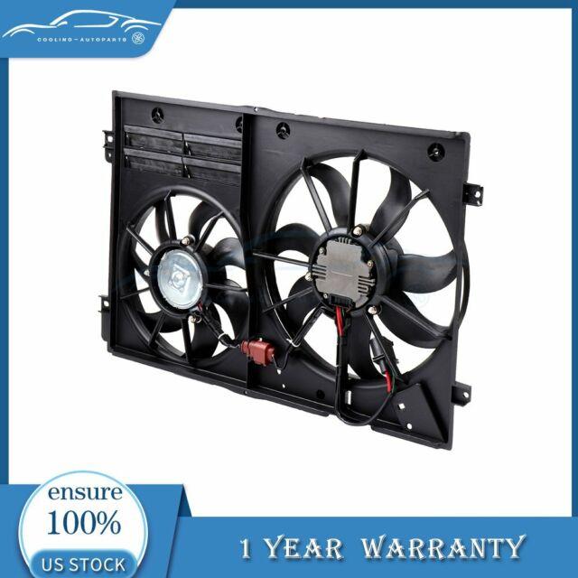 For 2005-2013 Volkswagen Jetta 2.5L l5 Radiator Condenser Black Cooling Fan
