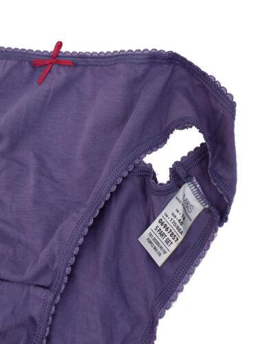 M/&S PURPLE Cotton Rich Bikini Knickers Plus Size 18