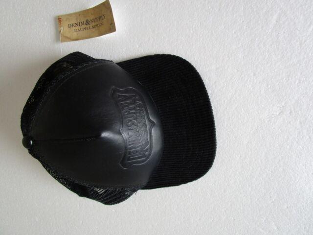 ralph lauren polo denim /& supply mens logo baseball cap dark denim rare hat new