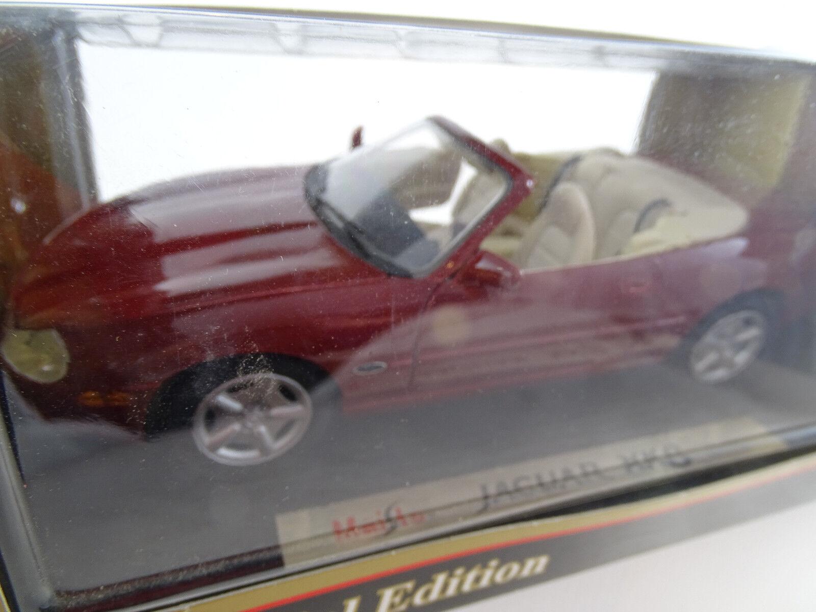 1 18 maisto  31836 1996 jaguar xk8 cabriolet rojo rareza