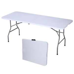 Lovely Image Is Loading 6 039 Portable Folding Table Plastic Indoor Outdoor